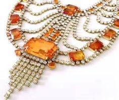 orange rhinestone necklace - Bing Images