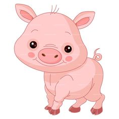 CLIPART CUTE PIG | Royalty free vector design