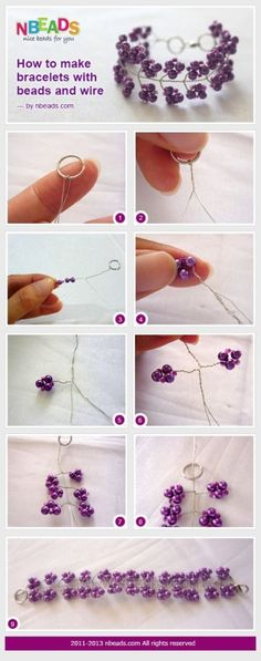 how to make bracelets with beads and wire by Jersica