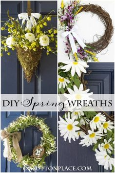 DIY Spring Wreaths | An On Sutton Place Round Up