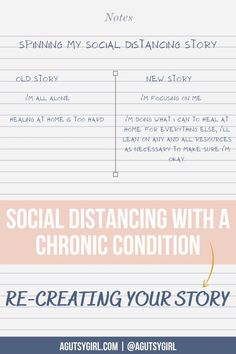 Social Distancing with a Chronic Condition old and new story agutsygirl.com #guthealing #socialdistancing #chronicillness #journaling Im All Alone, Girls Bible, Spin Me, Im Not Okay, Adrenal Fatigue, Im Done, Gut Health, Autoimmune, Chronic Illness