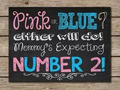 Baby announcement idea for baby #2!