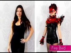 Be en fuego! 15-second timelapse transformation into a Flirty Firebird. Click for one of our fave adult costume ideas. Shop this look at partycity.com/product/fire+bird.do #BeACharacter
