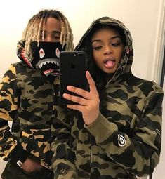 Bape gear together Black Relationship Goals, Couple Relationship, Cute Relationships, Black Couples Goals, Cute Couples Goals, Matching Couple Outfits, Matching Couples, Family Goals, Couple Goals