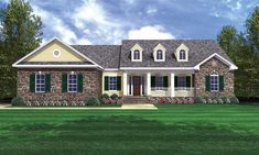 This Country House Plan includes 3 bedrooms / 2.5 baths in 2103 sq ft of living space.  Its open floorplan layout is flexible and is ideal for your growing family.  Best of all, its designed to be affordable to build and includes all of the most popular features you're looking for in your next home design.    #houseplan #dreamhome #HPG-2103 #HousePlanGallery #houseplans Gas Fireplace Logs, Cottage Style Homes, Cottage House, Modern Ranch, Residential Construction, Country Style House Plans, Traditional House Plans, Ranch House Plans, Building A New Home
