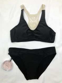 This lace paneled bikini is very comfort to wear, makes you more charming and sexy. See more details at AZBRO.