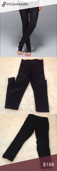 Lululemon satire cire stir up leggings Like new lululemon stir ups. Mesh criss cross panelings which gives it a sexy dimension. Highly rare sought out leggings, so priced high due to rarity. Size 4 luxtreme material lululemon athletica Pants Leggings