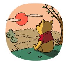 Pooh and Friends by The Walt Disney Company (Japan) Ltd. Cute Winnie The Pooh, Tattoo Templates, Bff Drawings, Walt Disney Company, Line Store, Eeyore, Line Sticker, Doodles, Cartoon