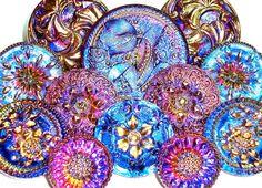 Gorgeous!  Czech Glass Buttons