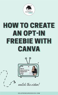 How to Create an Opt-in Freebie with Canva Email Marketing Strategy, E-mail Marketing, Marketing Digital, Business Marketing, Content Marketing, Business Tips, Online Marketing, Online Business, Affiliate Marketing