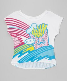Look what I found on #zulily! White 'Oh La La' Popster Hi-Low Tee - Girls by David & Goliath #zulilyfinds