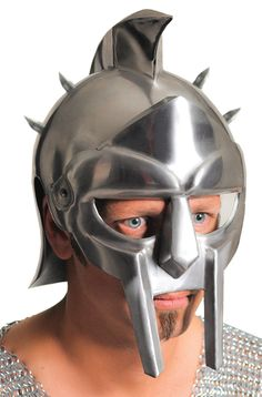 This Is A Replica Of A Type Of Helmet Used By Gladiators In The Roman Empire. Gladiators Were Typically Picked From Prisoners Of War, Slaves, And Sentenced Criminals, Trained In Special Gladiator Schools. Constructed Of Sturdy 18 Gauge Carbon Steel, With Helmet Accessories, Halloween Accessories, Costume Accessories, Gladiator Maximus, Gladiator Helmet, Halloween Masks, Halloween Costumes For Kids, Funny Halloween, Halloween Ideas