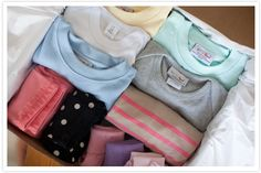 I'm facinated by this new site, wittlebee.  You select your size, weather, colors, etc, and they send you a box full of kids clothes for $40 a month.