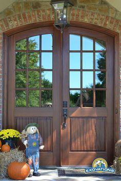 Mediterranean Doors - Andean Walnut Radius Top Plank Style - mediterranean - front doors - other metro - Homestead Doors Inc. | House ideas | Pinterest ... & Mediterranean Doors - Andean Walnut Radius Top Plank Style ... pezcame.com