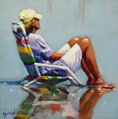 Low Tide, by Karin Jurick    A Painting Today   Love the peaceful image.  One of my favorite things to do.