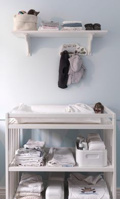 changing table with shelf above for extra storage