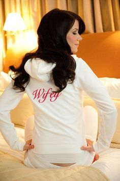 Wifey hoodie! I'm wearing crap like this forever when I do get married!