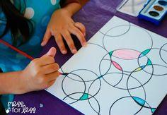 4. Lad børnene farve cirkler