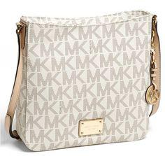 Michael Kors Signature Jet Set Vanilla Messenger Bag. Starting at $1 on Tophatter.com!