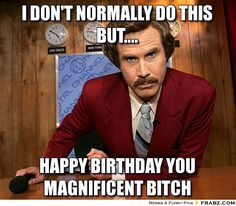 funny happy birthday meme - Google Search