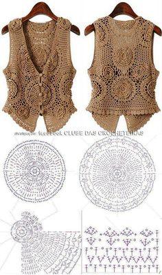 Fabulous Crochet a Little Black Crochet Dress Ideas. Georgeous Crochet a Little Black Crochet Dress Ideas. Crochet Waistcoat, Crochet Bolero, Cardigan Au Crochet, Pull Crochet, Gilet Crochet, Mode Crochet, Crochet Coat, Crochet Jacket, Crochet Cardigan