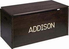Solid Wood Toy Chest - Can Be Personalized