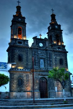 La Parroquía de Nuestra Señora del Rosario in the small village of Poncitlán, located in Mexico's Jalisco province.