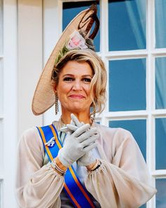 18 September 2018 - King Willem Alexander and Queen Maxima attend Prince's Day celebrations in The Hague - dress by Luisa Beccaria Hollywood Fashion, Royal Fashion, Prince Day, Dutch Queen, Wide Brimmed Hats, Dutch Royalty, The Hague, Princesa Diana, Queen Maxima