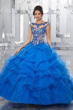 a7017e67d52 Satin and Tulle with intricate Embroidery and Beading Quinceanera Dress.  Colors available  White