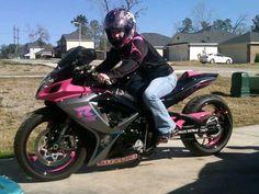 Popular Custom Painted Street Bikes | Pink & Black Custom2006 gsxr600 | Sport Bikes For Sale | Panorama ...