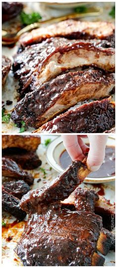 These delicious Fall Off The Bone Slow Cooker Barbecue Ribs from Carlsbad Cravings sound absolutely perfect for a Slow Cooker Summer Dinner. (Lots more summer slow cooker dinner ideas on this site.) [featured on SlowCookerFromScratch.com]