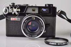 rare black Canon ql17 GIII rangefinder camera