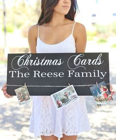 Look at this 'Christmas Cards' Personalized Wall Sign on #zulily today!