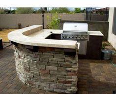 Outdoor Kitchen Bars, Outdoor Kitchen Design, Outdoor Bars, Outdoor Kitchens, Backyard Kitchen, Built In Grill, Rooftop Garden, Outdoor Living, Outdoor Decor