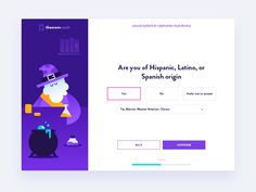 Picky Magician alchem wizard character design character illustration interface survey webdesign fireart fireart studio ux ui