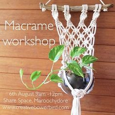 We are doing plant hangers again! There will be two designs to choose from (pics of the other design coming soon) Book now via my website, link in bio #macrame #macrameworkshop #macrameplanthanger #sunshinecoastaustralia #sunshinecoast #sharespace #craftworkshop #maroochydore #boho #bohohome #driftwood