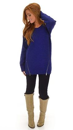 A loose and long sweater with a cozy thick sweater knit! $64 at shopbluedoor.com