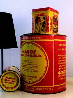Old MAGGI Bouillon Cubes 3 Tin Box by LaLanterne on Etsy, $87.00