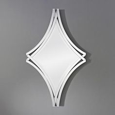 Twice Frameless Diamond Shaped Curved Bevelled Wall Mirror by Deknudt Mirrors - Mirror Shop UK Julia Jones, Mirror Shop, Wall Mirror, Standing Mirror, Funky Design, Lounge Furniture, Furniture Ideas, Bedroom Chair, Beveled Mirror