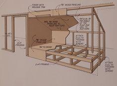 Alkovenbett für FeWo Alcove bed for apartment Attic Bedroom Small, Attic Bedroom Designs, Attic Bedrooms, Attic Loft, Loft Room, Upstairs Bedroom, Attic Spaces, Bedroom Loft, Alcove Bed
