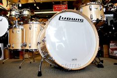 Ludwig Classic Maple 4Pc Bonham Drum Set - Natural Maple Available for purchase here! http://www.drumcenternh.com/ludwig-classic-maple-4pc-bonham-drum-set-natural-maple.html