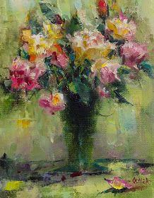 Art Talk - Julie Ford Oliver: Impression of Roses