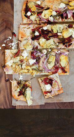 Artichoke and Sun-Dried Tomato Focaccia