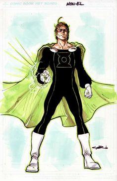 Mon El as Green Lantern by Cinar.deviantart.com on @deviantART