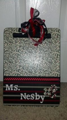 Custom Made Scrapbook Altered Clipboards!! Choose Your Design, Color, Ribbon, and/or Embellishments! No Two Are Alike!