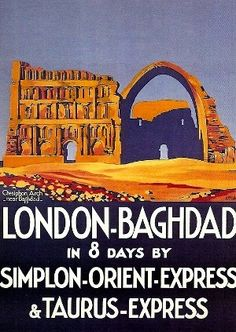 Travel railroad vintage posters