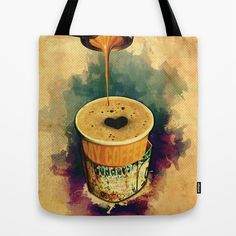 Good Morning Coffee On the Go with Graffitti Wrap – Tote bag, Mugs, Travel mugs, Canvas prints, Gift cards, Tote bags, T-shirts, All over T-shirts, iPhone cases, Laptop sleeves, iPad sleeves... etc. | Design by András Balogh | Sweet Life – Things to Love series
