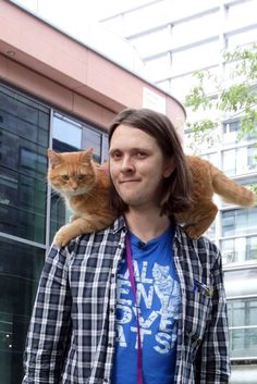 Bob (the street cat) and James