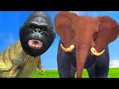 Animals Finger Family Rhymes   Dinosaur Gorilla With Animals Head   Kids Nursery Rhymes Song - YouTube