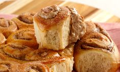 Pão com creme de canela